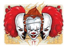 Every day is Halloween: Photo Horror Movie Characters, Best Horror Movies, Scary Movies, Pennywise The Dancing Clown, Horror Monsters, Creepy Clown, Evil Clowns, Aliens, Arte Horror