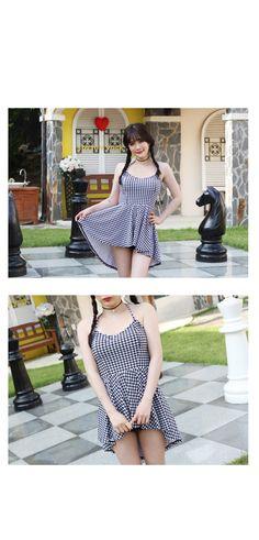 ハウンドトゥースワンピース , ♥BULLANG GIRLS♥韓国オルチャンファッション通販サイト