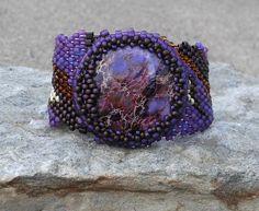 Peyote stitch beaded bracelet....nice.