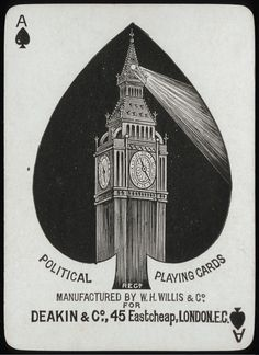 Political Playing Cards - England 1885