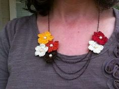 Happiness Crafty: 15 FREE Necklaces Crochet Patterns
