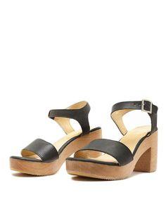 Wooden Heel Sandal from American Apparel #poachit
