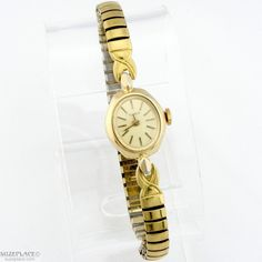 Vintage Ladies Timex Wind Up Watch with Gold tone Flex band  - the tv ad said 'takes a licking and keeps on ticking'