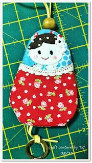 Matryoshka Ornament + Key Cover: Tutorial and Free Pattern