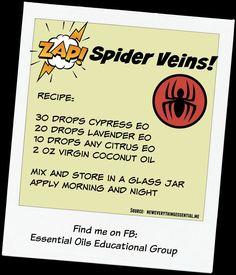 Essential Oils for Spider Veins: