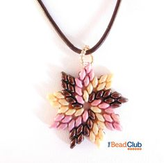 Superduo Pendant Pattern Beading Pattern by TheBeadClubLounge