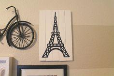 The Junk House: Eiffel Tower Wood Shim Art (HoH163)