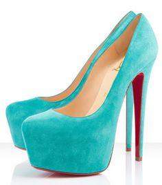 Daffodile has been produced exclusively for one of the fashion industry's most photographed stylistas for years. Add a pop of color to your wardrobe with this delicious bright suede version.  COLOR:Turquoise  MATERIAL:Suede  Heel Height: 6.3 inches approx. - 160 mm approx.  Arch: 3.9 inches approx. - 100 mm approx.  Platform Height: 2.4 inches approx. - 60 mm approx.