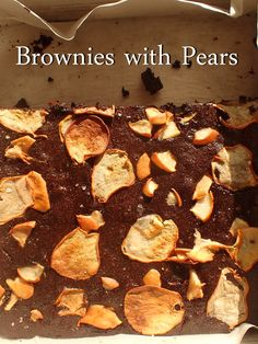 Chic and Simple: http://www.blog.provocolate.com/2015/11/rich-pear-brownies-mirror-crisp-fall-day.html