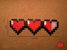 Zelda Hearts Level Keychains Magnets and Pins made from by DJbits