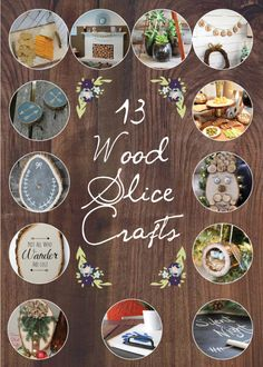 13 Wood Slice Projects! So much inspiration here! #monthlyDIYchallenge #OAMCrafting