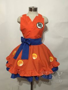 Shop for cosplay on Etsy, the place to express your creativity through the buying and selling of handmade and vintage goods. Dragon Ball Z Shirt, Dragon Ball Gt, Halloween Dresses For Girls, Ball Dresses, Girls Dresses, Dbz, Halloween Disfraces, Kimono Dress, Cosplay Outfits