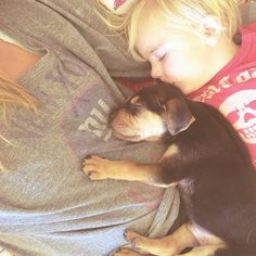 Theo and Beau. 14 Adorable Photos of a Toddler Napping with His Puppy. Photos by  Jessica Shyba.