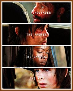 Rick Grimes - Andrew Lincoln, Daryl Dixon - Norman Reedus, Michonne - Danai Gurira, Carl Grimes - Chandler Riggs - AMC's The Walking Dead
