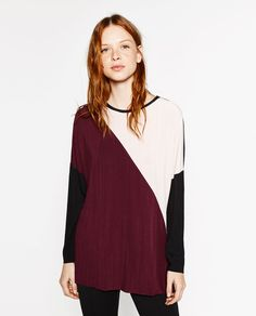 Image 2 of COLOUR BLOCK TUNIC from Zara