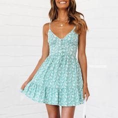 Style Dome Women's V-Neck Beach Summer Dresses Strappy Mini Dress Sexy Boho Casual Party Short Fitting Sundresses Casual Party Dresses, Cute Summer Dresses, Cute Casual Outfits, Pretty Dresses, Sexy Dresses, Short Dresses, Mini Dresses, Elegant Dresses, Cute Summer Clothes