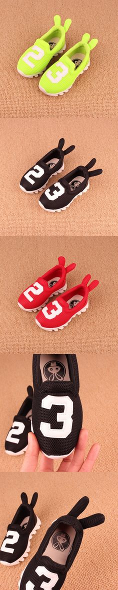Kids shoes 2016 spring autumn children sport shoes girls rabbit ears boys network summer casual gauze breathable sneakers