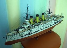 A war Russia pelles waite battleship Paper Model Kit