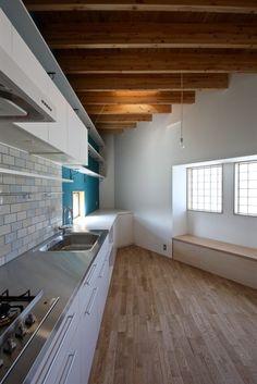 大きな三角形のワンルーム空間です!住宅設計なら大阪の建築設計事務所【Coo Planning】へ。