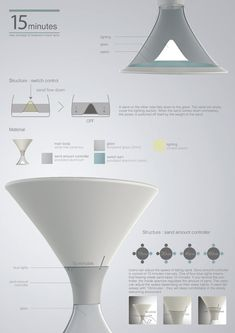 Once you are dead asleep, there is little use of the night lamp that keeps burning uselessly. The 15 Minutes Lamp is an innovative fusion of Luminaire Design, Lamp Design, Lighting Design, Mise En Page Portfolio, Portfolio Layout, Web Design, Layout Design, Yanko Design, Mises En Page Design Graphique
