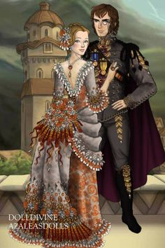 Courting the Archduke... ~ by Inanna ~ created using the LotR Hobbit doll maker | DollDivine.com