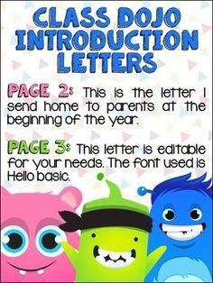 {Class} Dojo Editable Parent Letter FREEBIE!