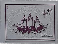 MB Candle - burgundy