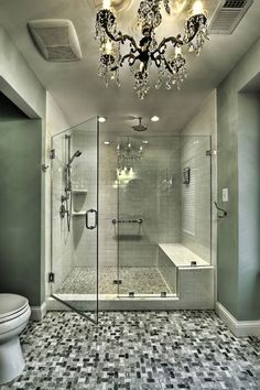 traditional bathroom by Moss Building and Design Shower Seat, Walk In Shower, Jacuzzi Tub, Bathtub, Big Bathrooms, Master Bathroom, Luxury Bathrooms, Bathroom Hooks, Bath Accessories