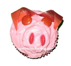 Pig Cupcake: Easy Cupcake Decorations