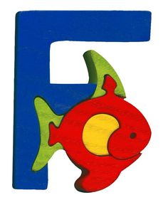 Montessori - Waldorf wooden puzzle letter F, made by hand of maple wood,no harmful colors and no lacquer