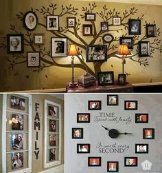Avec des photos de famille