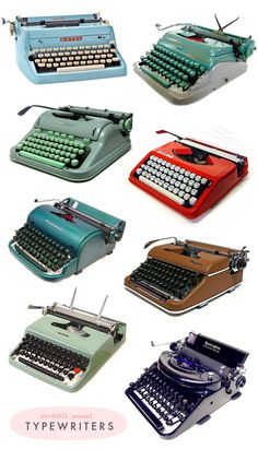 Máquinas de escribir, máquinas de bla bla blas.