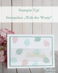 """www.conibaer.de Glückwunschkarte mit dem Stampin´Up! Stempelset """"Wald der Worte""""…"""