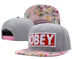 Obey snapback caps unisex caps hats snapback hat custom cap obey floral hats fashion summer colorful snapbacks-in Baseball Caps from Appare. Snapback Caps, Wholesale Hats, Dope Hats, Flat Bill Hats, Pink Dolphin, Flower Hats, Beanie Hats, Beanies, Red And Grey