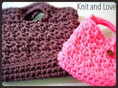 Knit and Love : PASO A PASO CESTO DE TRAPILLO PUNTO FLOR