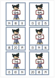 Addition 11-20 1st Grade Math Worksheets, 3rd Grade Math, Grade 1, Math Addition, Addition And Subtraction, Page Borders Design, Math School, Work Activities, Math For Kids