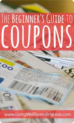 The Beginners Guide to Coupons. This is seriously the best free online step-by-step guide to learning how to extreme couponing Ways To Save Money, Money Tips, Money Saving Tips, Money Savers, Money Hacks, Energy Saving Tips, Managing Money, Save Energy, Extreme Couponing