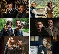 — Просто представь, что все твои любимые персонажи придут к тебе, когда ты будешь нуждаться в этом больше всего.  #sherlock | #onceuponatime | #thewalkingdead | #supernatural | #the100 | #doctorwho