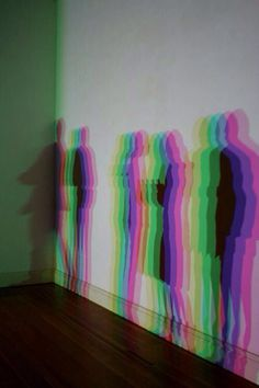 to show the different people on different days and how even one person has multiple shadows and attitudes and personalities