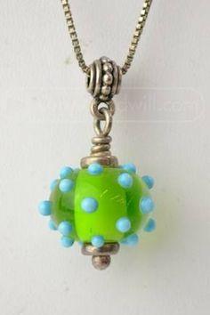 Dichroic glass nancy giere pastel fused glass pendant on beaded 925 green blue lampwork glass bead pendant aloadofball Choice Image