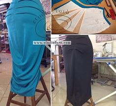 Cut your own First Sample for the Drape Tube Skirt http://www.studiofaro.com/well-suited/first-sample-drape-tube-skirt #PatternMakingClasses #Sydney #SewingPatterns Alter the drape. :)