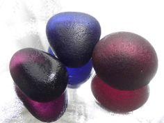 3 Lge Secret Purple Indigo Plum 0.85oz 24g JQ RARE Genuine English Sea Glass