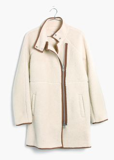 madewell sherpa cocoon coat
