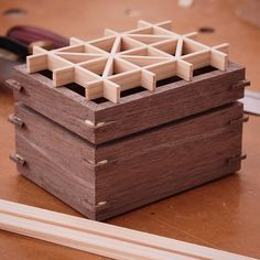 Day 1 of the kumiko box class went really well. I'm working with an amazing group of students in Albany, and they're killing it. Today we'll finish up the box and play around with some other patterns as well.