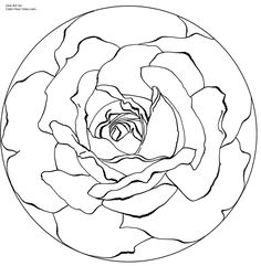 mandala coloring pages printable | mandala rose Colouring Pages