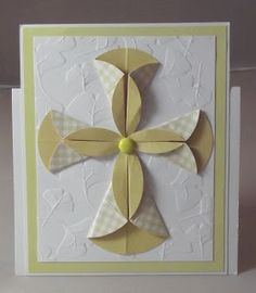 handmade card from Night Owl Designs: Easter Cross . dahlia fold with two sizes of circles . great for confirmations and baptisms too . Confirmation Cards, Baptism Cards, Mother's Day Greeting Cards, Greeting Cards Handmade, Handmade Easter Cards, Fancy Fold Cards, Folded Cards, Tarjetas Diy, Christian Cards