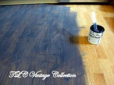 how to chalk paint wood laminate floor, chalk paint, flooring, how to, painting, A wash of Graphite over the floor
