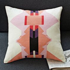 West Elm offers modern furniture and home decor featuring inspiring designs and colors. Create a stylish space with home accessories from West Elm. Textiles, Custom Pillows, Decorative Pillows, Home Decor Inspiration, Design Inspiration, Design Ideas, Decor Ideas, Triangle Pillow, Geometric Pillow