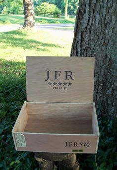 Wooden Cigar Chest Huge JFR Trunk Lightweight by IndustrialPlanet, $18.80