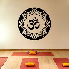 Mandala Oum Om Yoga  Wall Decal Vinyl Sticker Wall by CozyDecal, $15.99